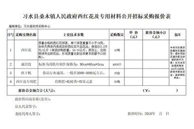 习水县桑木镇人民政府西红花及专用材料公开招标采购中标(成交)公告