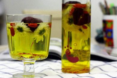 藏红花可以和菊花一起泡水喝吗