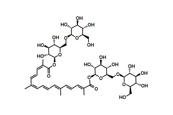 西红花苷分子式