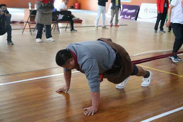 90公斤以上級冠軍索朗仁增