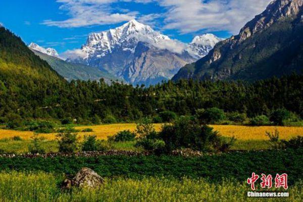 西藏日喀则吉隆沟如世外桃源