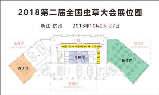 2018第二屆全國蟲草大會展位圖