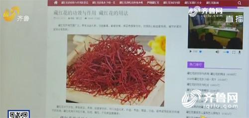 節目中引用了藏紅花網的內容