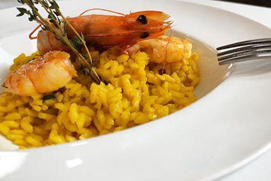 意大利红虾藏红花烩饭