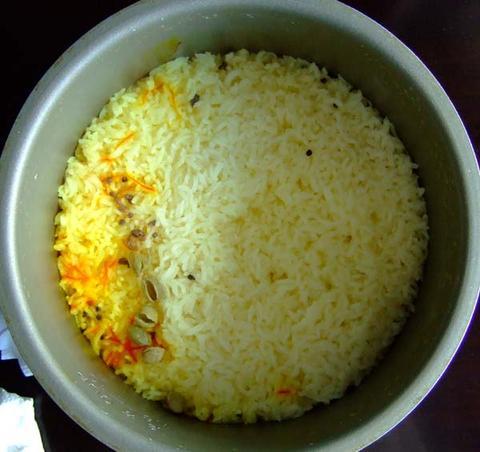印度藏红花饭