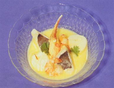 藏紅花白酒少司燴海鮮