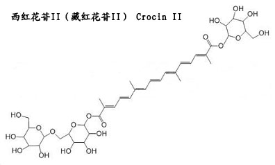 西紅花苷II(藏紅花苷II) Crocin II 分子結構
