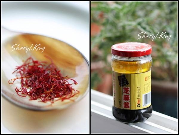 藏红花 芝麻酱