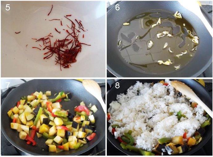 藏紅花蔬菜粥的做法第5到8步