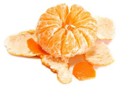 橘子上的白色筋络